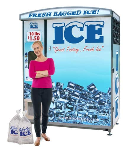 IM500 Ice Vending Machine with Lady