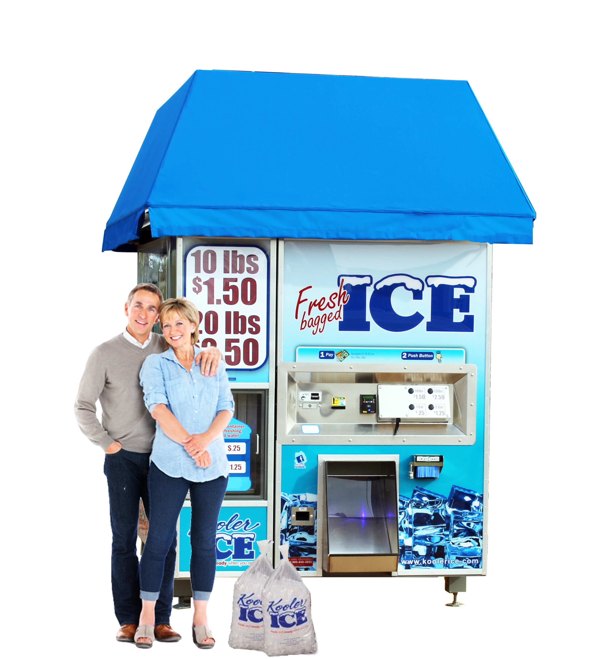 IM1500 Ice and Water Vending Machine