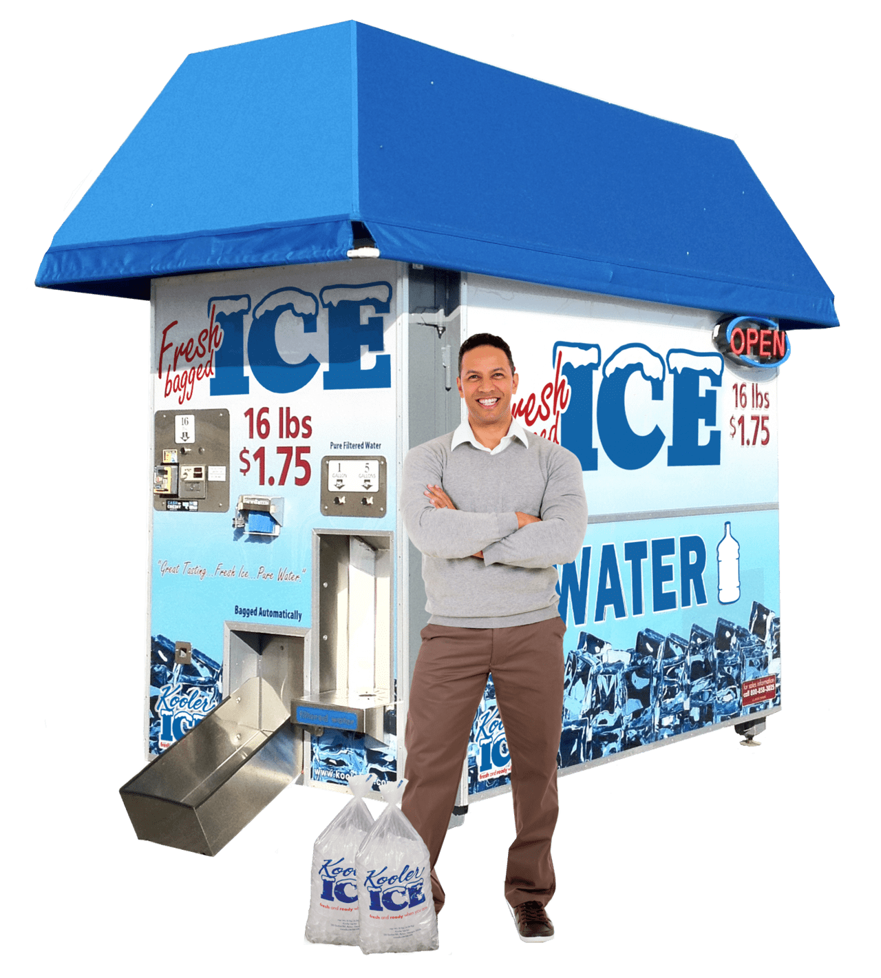 Kooler Ice KI810 ice and water vending machine