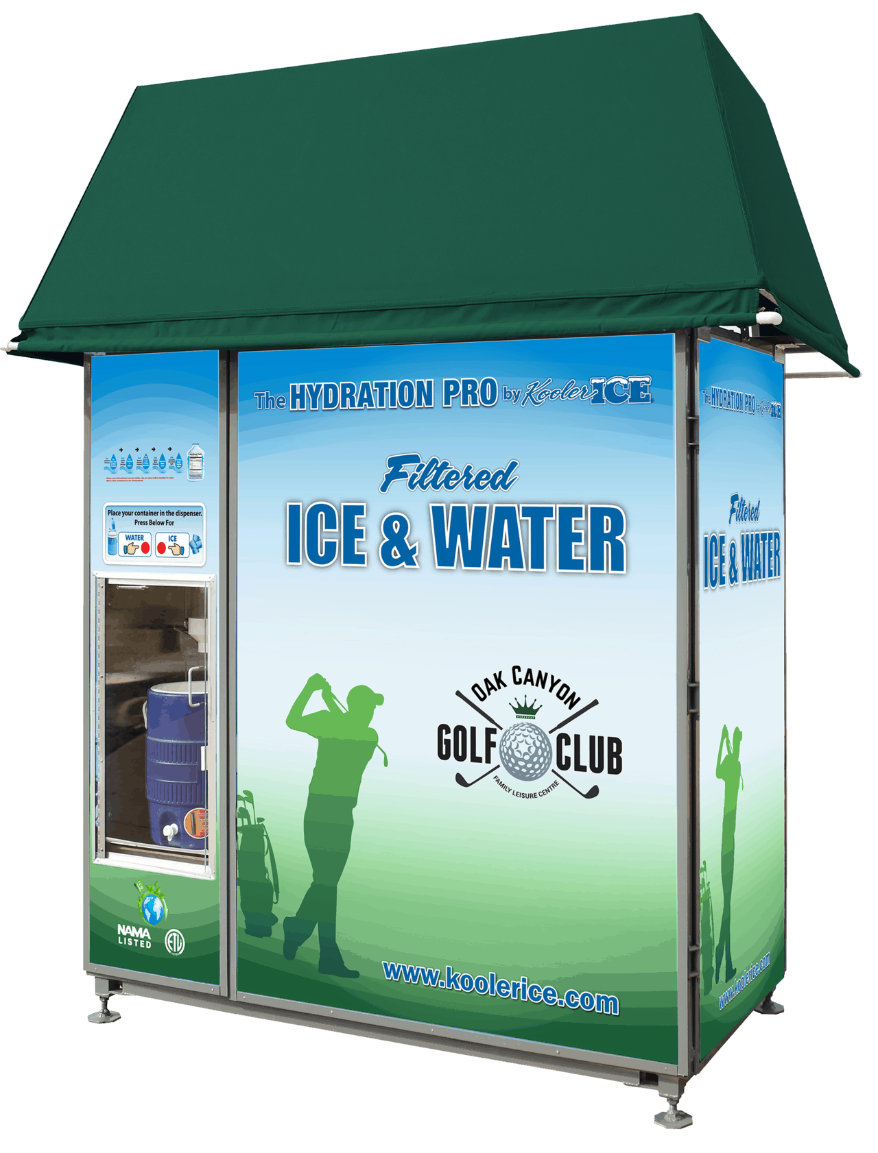 Hydration Pro Ice and Water Vending for Golf Courses