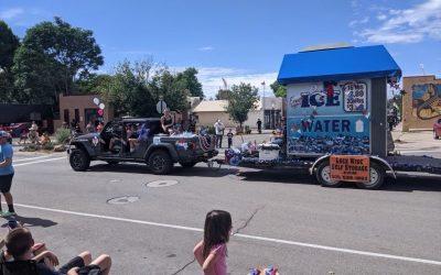 "Machine Owner Robert Rydeski Creates ""Ice Vending Machine Float"" for July 4th Parade"