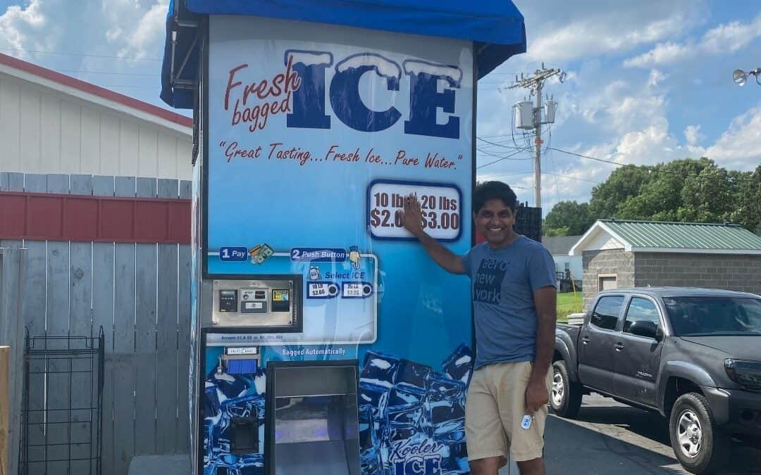 New IM1000 Kooler Ice Vending Machine Owner Jay Patel