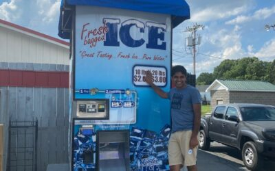 New IM1000 Kooler Ice Vending Machine Owner Jay Patel